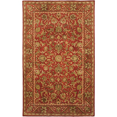 Safavieh Antiquity Collection AT52E Handmade Red Wool Area Rug, 9 feet by 12 feet (9' x 12')