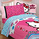 Hello Kitty Full Bedding Colorful Hearts Sheets
