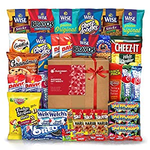 Snack Chips Gift Set Party Box Bundle Care Package 40 Count
