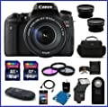 Canon EOS Rebel T6s DSLR Camera w/18-135mm STM IS 80GB Bundle, Kit includes: 64GB SDXC & 16GB SDHC Class 10 Memory Cards, Card Reader, Auto Power Flash and more...