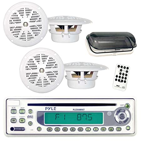 Pyle PLCD6MRKT Autoradio CD/DVD Blanc