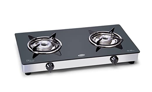 Glen Glass Cooktop 2 Burner - Toughened Glass at amazon