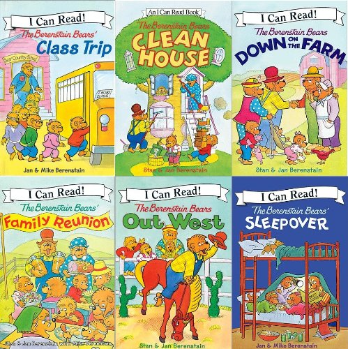 "Image for ""Berenstain Bears Reader Collection: Berenstain Bears' Class Trip; Berenstain Bears Down on the Farm, The Berenstain Bears Family Reunion, The Berenstain Bears Out West; The Berenstain Bears' Sleep Over; The Berenstain Bears Clean House (I Can Read, S"""
