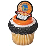 NBA Golden State Warriors Cupcake Rings 12 count