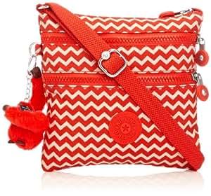 Kipling Alvar S,  Sacs bandoulière mode femme  - Rouge (Chevron Red Pr)