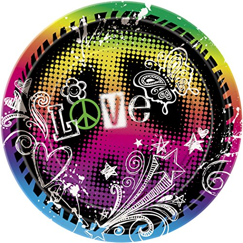 Peace Sign Party Dessert Plates (8) - 1