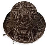 (ササワシ)SASAWASHI ささ和紙 手編み帽子 ブラウン (57cm)