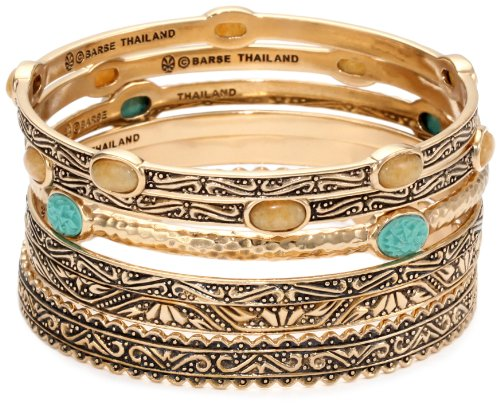 Bronzed by Barse 6 Piece Bangle Bracelet Set