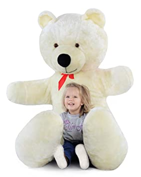 Grand nounours blanc 205cm, peluche géante énorme!