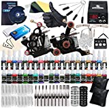 Starter Tattoo kit 2 Tattoo Machine Power Supply Needles 40 Inks Y-020