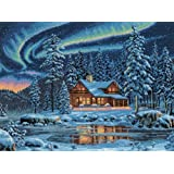 Dimensions Needlecrafts Counted Cross Stitch, Aurora Cabin