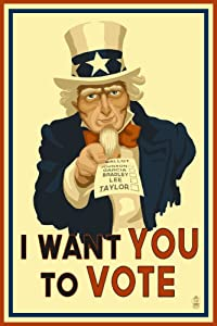 Uncle Sam Vote Poster