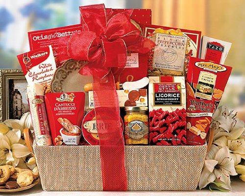 Send Fresh Cut Flowers - World of Thanks Mixed Gift Basket