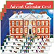 Alison Gardiner Pack of 4 Traditional Advent Calendar Cards - Country House Christmas