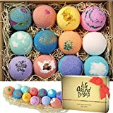 LifeAround2Angels Bath Bombs Gift Set 12 USA made Fizzies, Shea & Coco Butter Dry Skin Moisturize, Perfect for Bubble & Spa Bath. Handmade Birthday Mothers day Gifts idea For Her/Him, wife, girlfriend