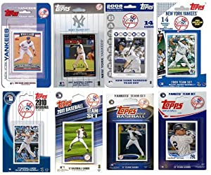 MLB New York Yankees 8-Different Licensed Trading Card Team Set by C&I Collectables