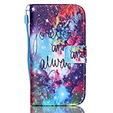 buy S5 Case, [Kickstand] Premium Pu Leather Wallet Flip Cover, Detachable Wrist Strap Phone Cover Card Holder For Samsung Galaxy S5 [Sky]+1 Stylus And Screen Film