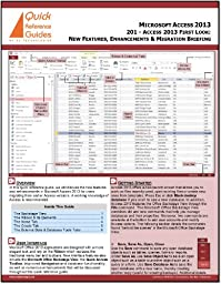 Microsoft Access 2013 First Look Quick Reference Card (Cheat Sheet): What\'s New in Access 2013
