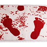 VDOMUS®Unchanging Colour Bloody Foot Print Non-slip Doormat Bath Mat