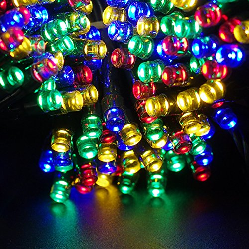 Escolite Solar Christmas Lights party string lights for solar powered Outdoor indoor string ...