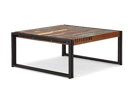 Couchtisch 80x80 antik Holz Möbel Quebec