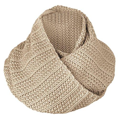 Brekka Sciarpa ad anello Soft Bee Collar, Beige (Beige), Taglia unica