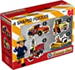 Jumbo Games Fireman Sam 4-in-1 Shaped Floor Jigsaw Puzzles