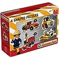 Jumbo Games Fireman Sam 4-in-1 Shaped Floor Jigsaw Puzzles