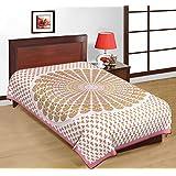 Multicolor Round Design Sanganeri Print Pure Cotton Printed Single Bedsheet