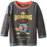 Hatley Big Boys' Dragon Hockey Tee in Charcoal