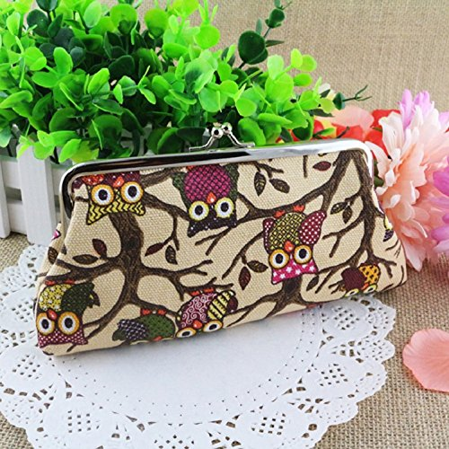 где купить  Sandistore Smart Women Lovely Style Lady Wallet Hasp Owl Purse Clutch Bag  дешево