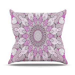 Hot Pink Outdoor Throw Pillows : Amazon.com : Kess InHouse Monika Strigel
