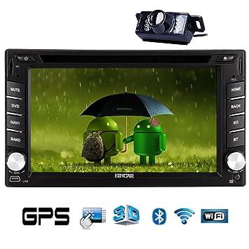CamšŠra HD arriššre de navigation intšŠgršŠe GPS Radio stšŠršŠo Android 4.2 šŠcran multi-touch UnitšŠ de voitures CD Lecteur de DVD Double 2 Di