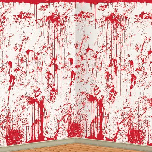 Bloody halloween decor for the funk 39 n freaky party funk for Psycho shower curtain and bath mat