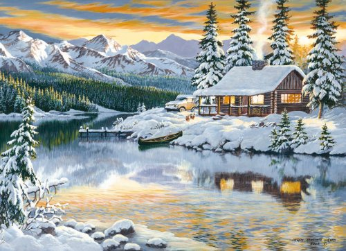 Cheap Clementoni Cabin on the River 1500 Piece Jigsaw Puzzle (B0012ZOIYG)