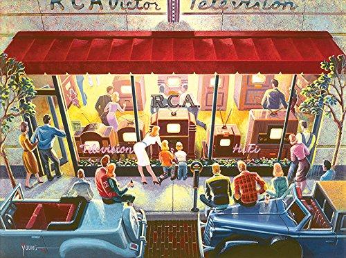 Puzzle Collector Art 500 Piece Puzzle - Public Television by LPF - 1
