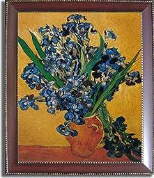 Les Iris by Van Gogh Premium Mahogany Framed Canvas (Ready to Hang)