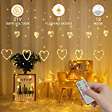 YMing Christmas Light Indoor Outdoor, String Lights for Home Patio Garden (12 Heart) (Color: 12 Heart)