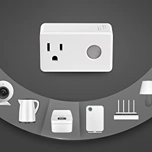 Wi-Fi Smart Timer Plug 2 Packs Mini, BroadLink Wireless