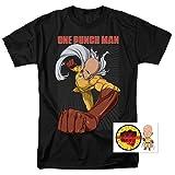 One-Punch Man Japanese Superhero T Shirt (X-Large) (Color: Heroic Fist, Black, Tamaño: X-Large)