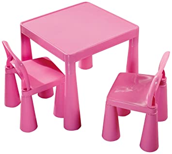 Liberty House Children's Table with 2 Chairs (Pink)