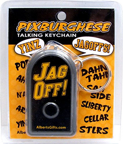 Jag Off Keychain Talking at Steeler Mania