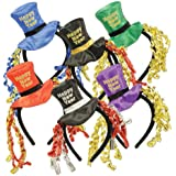 Happy New Year Headbands (asstd colors) Party Accessory  (1 count) (1/Pkg)