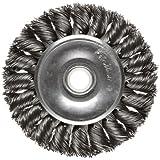 Weiler Dualife Standard Wire Wheel Brush, Round Hole, Steel, Partial Twist Knotted