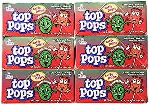 Dorval Top Pops, Watermelon, 48-Count (Pack of 6)