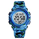 Kids Watch, Boys Sports Digital Waterproof Led Watches with Alarm Wrist Watches for Boy Girls Children Camouflage (Color: camouflage Blue)