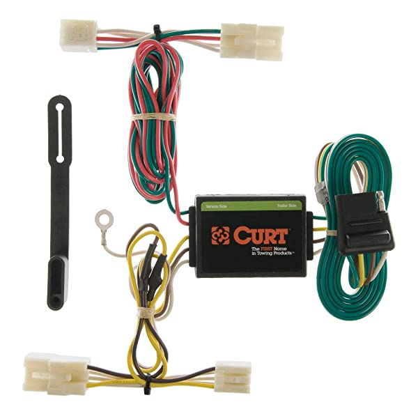 CURT 55362 Vehicle-Side Custom 4-Pin Trailer Wiring Harness for Select Nissan Frontier Quest Mercury Villager