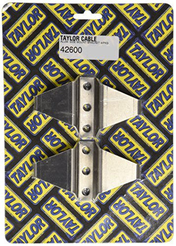Taylor Cable 42600 Aluminum Side Mount Brackets - Package of 4 (Spark Plug Wire Mount compare prices)