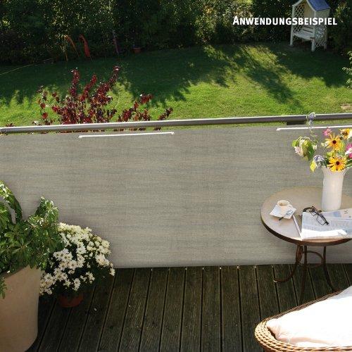 videx pe balkonbespannung classik beige grau 90 x 500cm. Black Bedroom Furniture Sets. Home Design Ideas