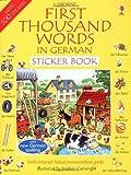 First 1000 Words in German Sticker Book